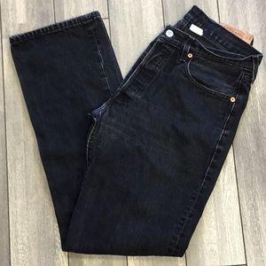 501 Levi's Black Button fly Men's Jeans